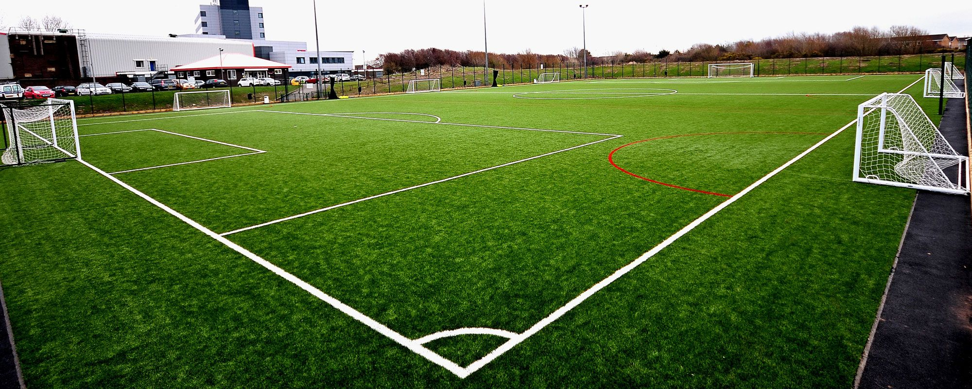 Football pitch in Blackpool used by Score Leisure for 5, 6 & 7-A-Side