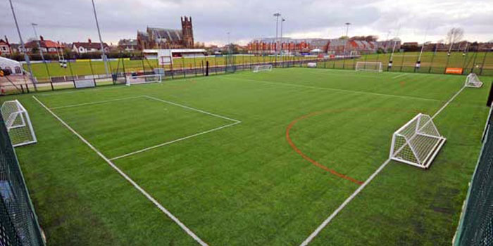 Football pitch in Blackpool